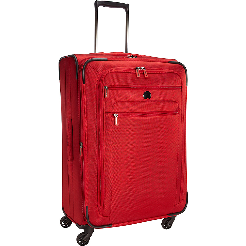 Delsey Helium Sky 2.0 25 Exp. Spinner Trolley Red Delsey Softside Checked
