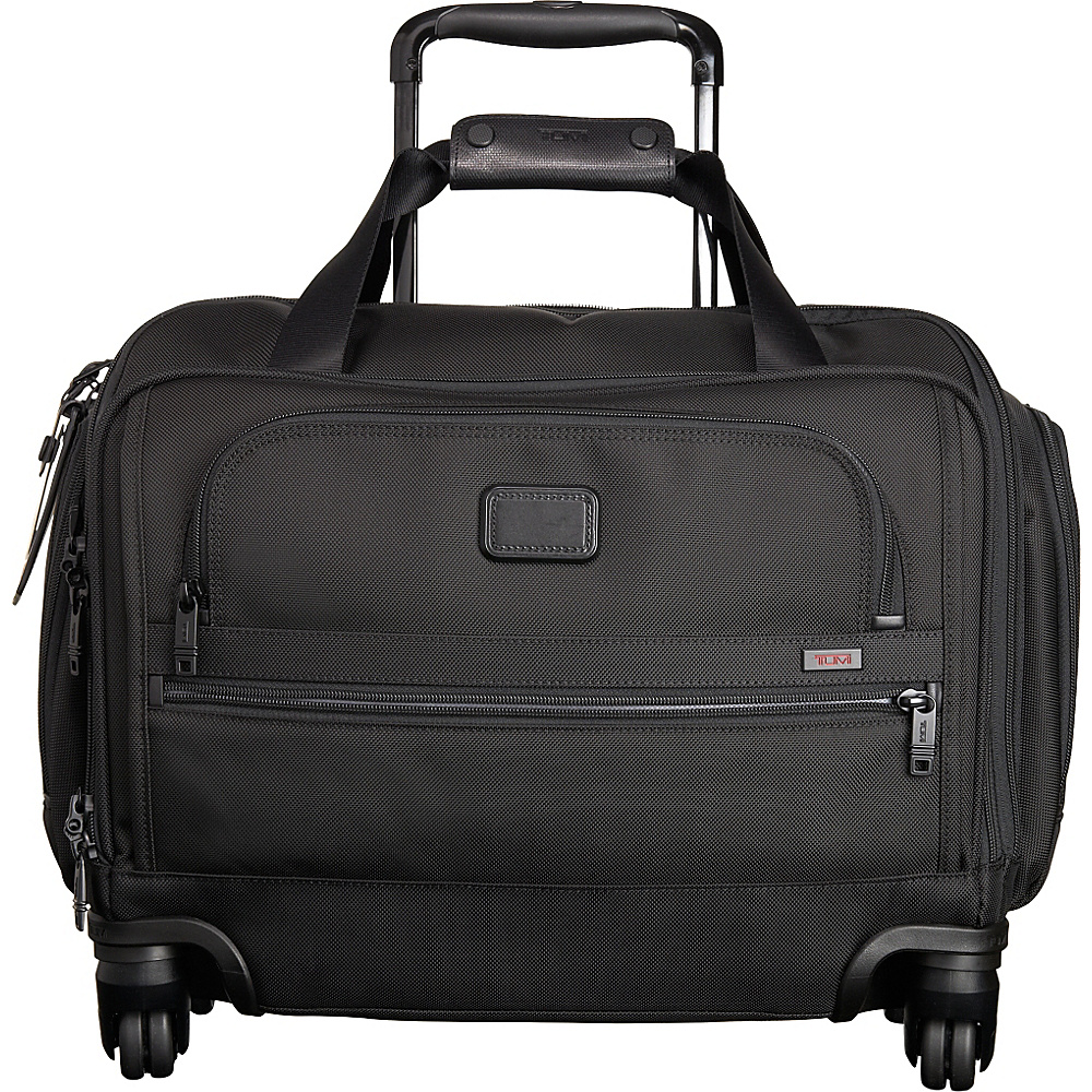 Tumi Alpha 2 4 Wheeled Compact Duffel Black D-2 - Tumi Softside Carry-On