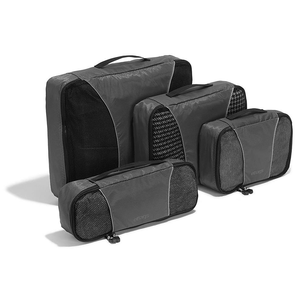 eBags Classic 4pc Packing Cubes Titanium - eBags Travel Organizers