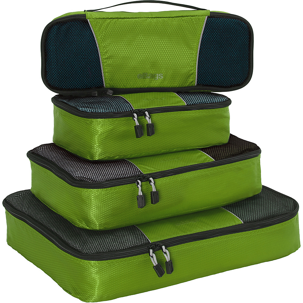eBags Classic 4pc Packing Cubes Grasshopper - eBags Travel Organizers