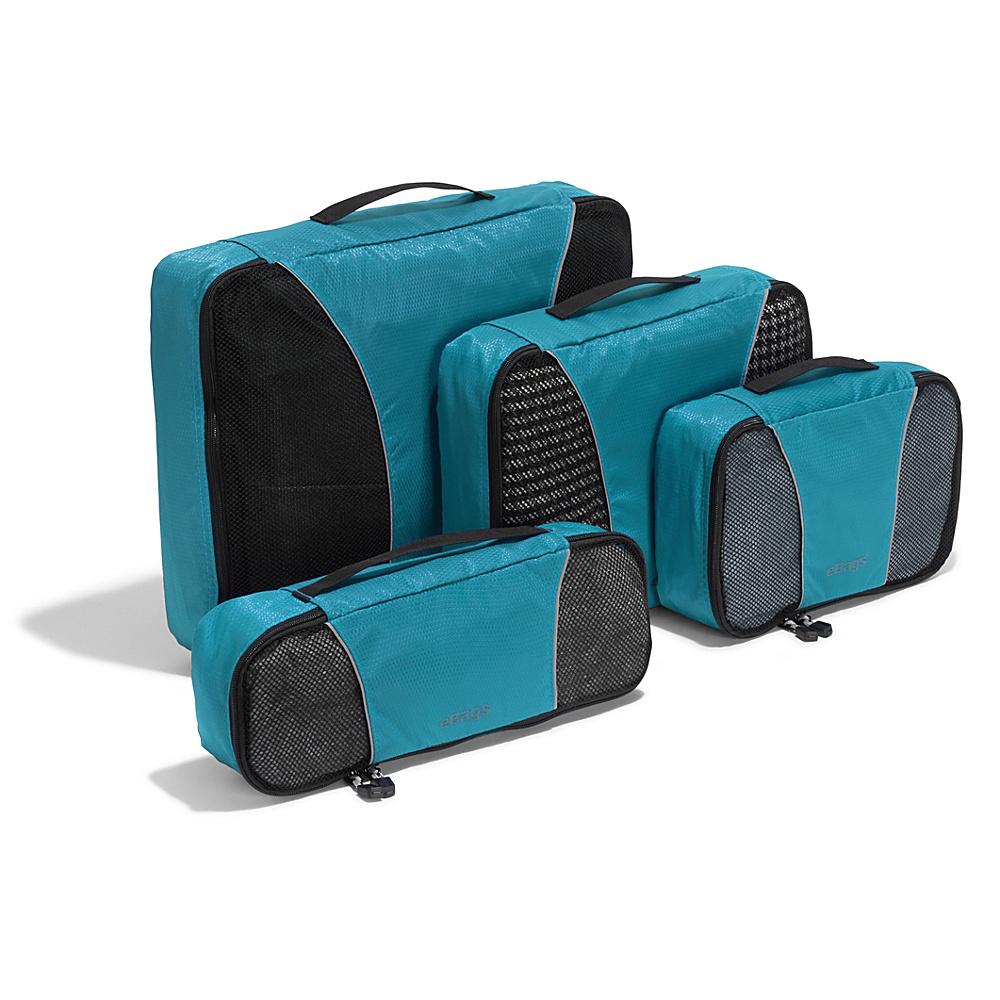 eBags Classic 4pc Packing Cubes Aquamarine - eBags Travel Organizers