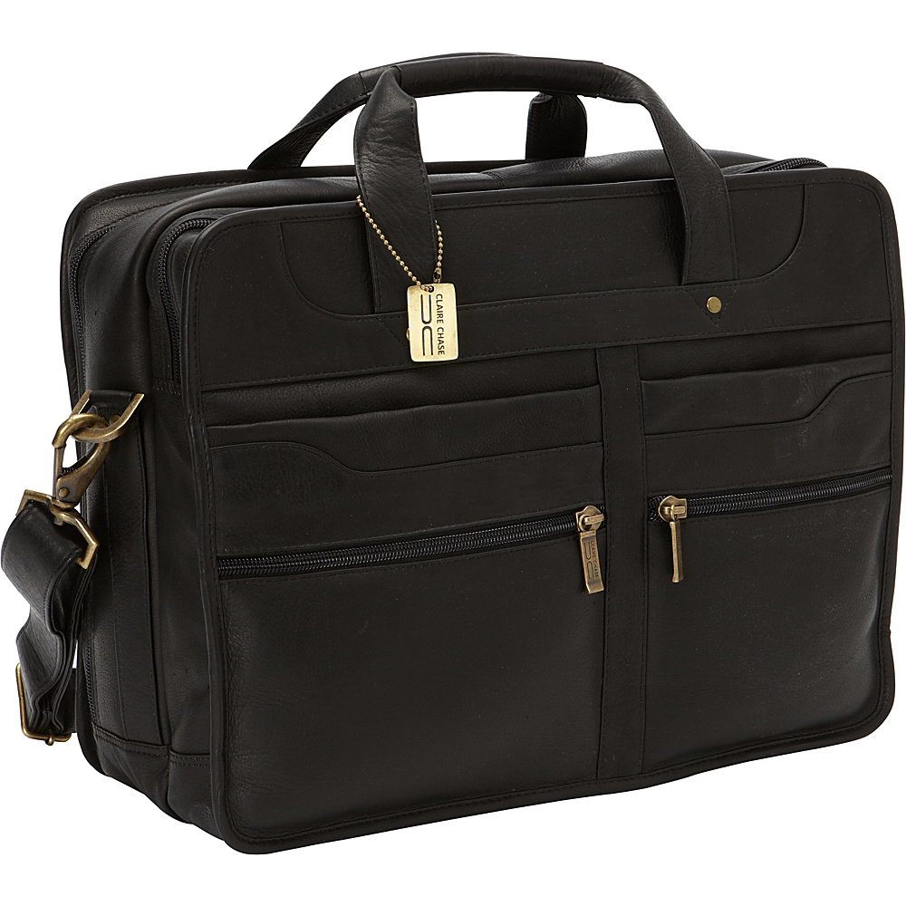 ClaireChase Diamond Computer Briefcase Black - ClaireChase Non-Wheeled Business Cases