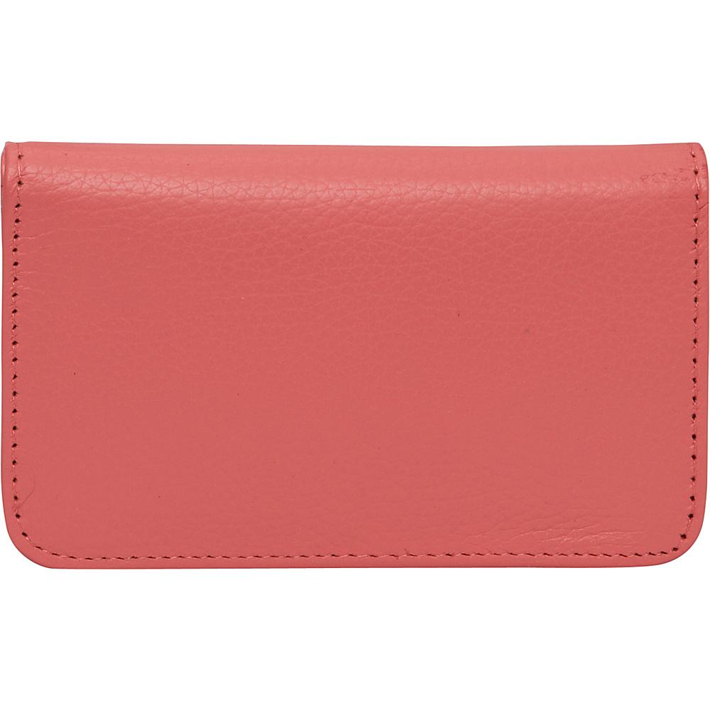 Buxton Hudson Pik-Me-Up Snap Card Case - Exclusive Colors Sugar Coral - Buxton Womens Wallets - Women's SLG, Women's Wallets