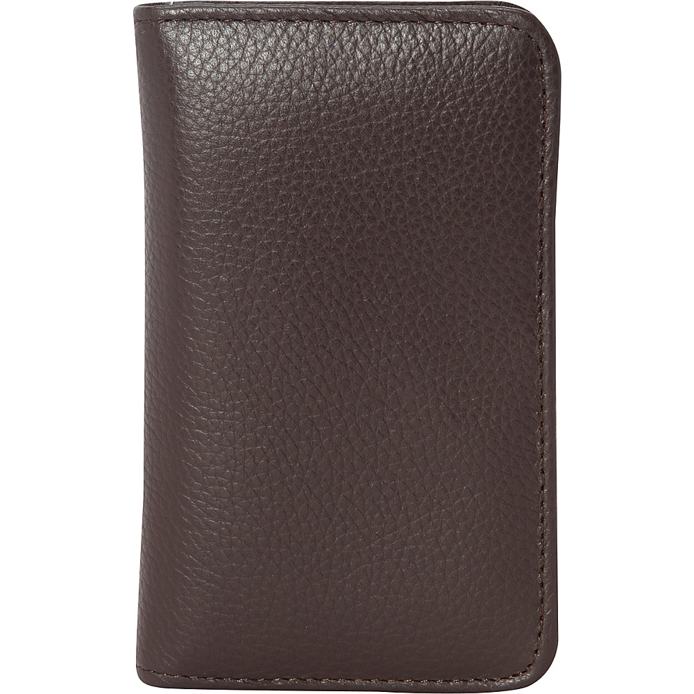 Buxton Hudson Pik Me Up Snap Card Case Exclusive Colors Chocolate Brown Buxton Women s Wallets