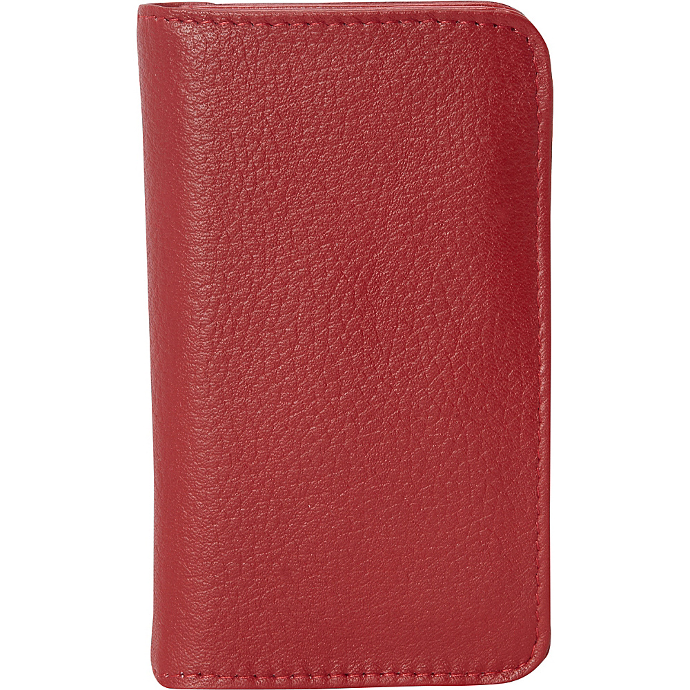 Buxton Hudson Pik-Me-Up Snap Card Case - Exclusive Colors Dark Red - Buxton Womens Wallets - Women's SLG, Women's Wallets