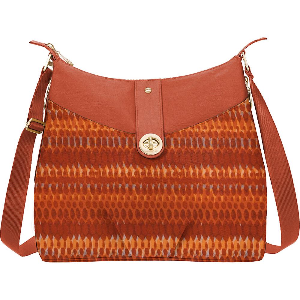 baggallini Gold Helsinki Bagg Flame Print - baggallini Fabric Handbags - Handbags, Fabric Handbags
