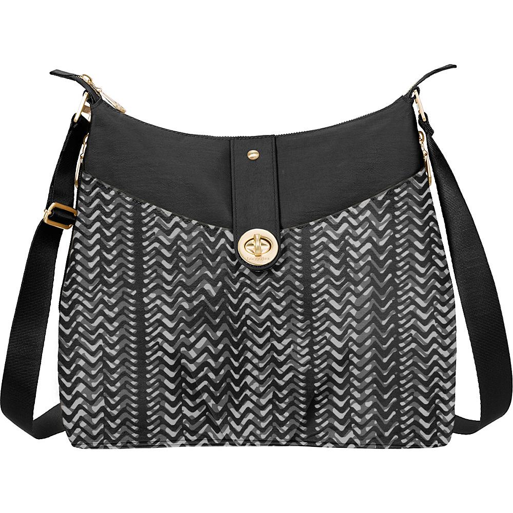 baggallini Gold Helsinki Bagg Black/White Illusion Print - baggallini Fabric Handbags - Handbags, Fabric Handbags