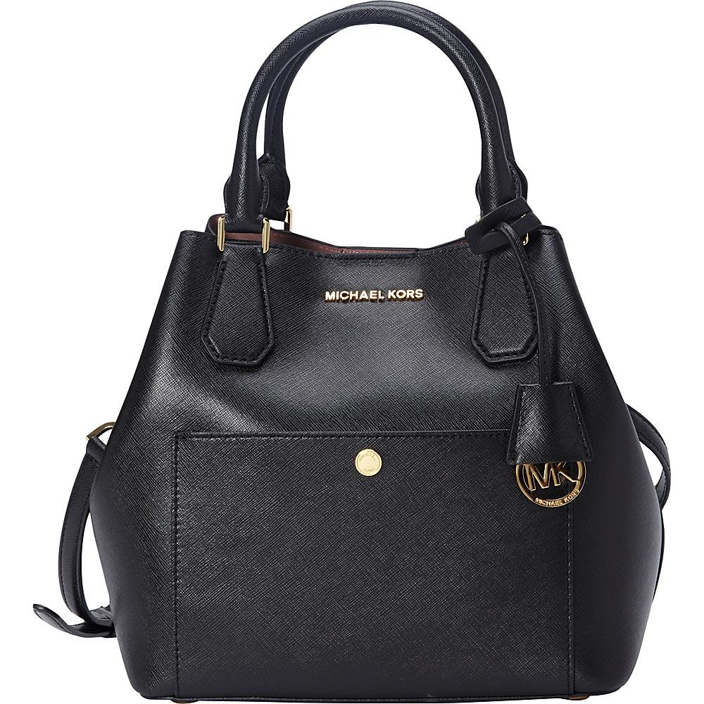 MICHAEL Michael Kors Greenwich Large Grab Bag Black/Dark Rose - MICHAEL Michael Kors Designer Handbags