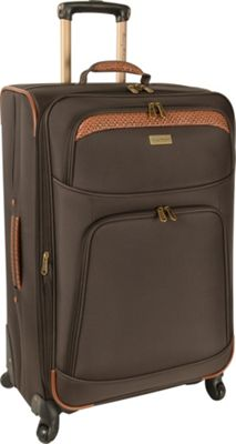 Tommy Bahama Santorini 28 inch Expandable Spinner Dark Brown/Cognac - Tommy Bahama Softside Checked