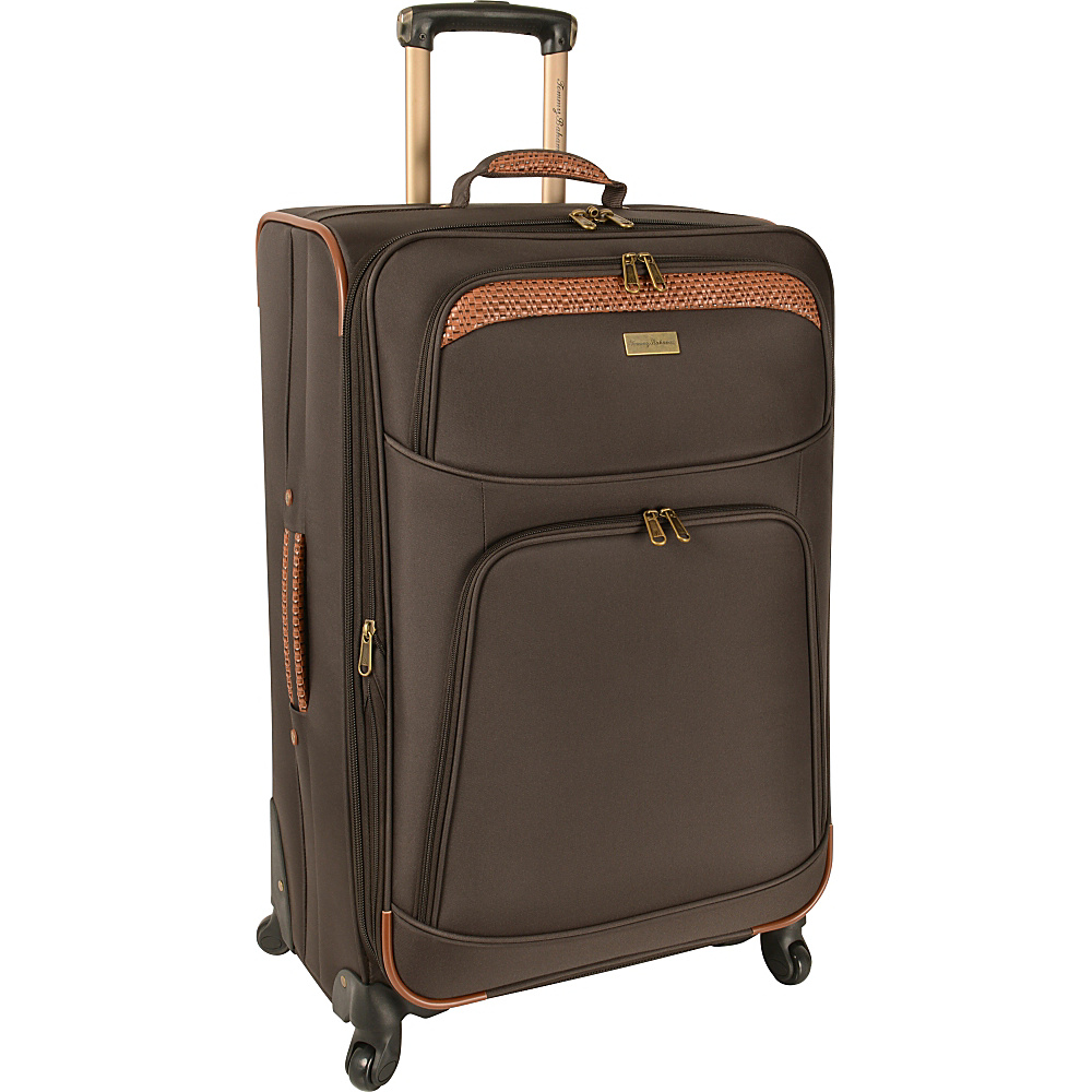 Tommy Bahama Santorini 28 Expandable Spinner Dark Brown Cognac Tommy Bahama Softside Checked