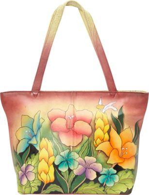 ANNA by Anuschka Large Tote Mediterranean Garden - ANNA by Anuschka Leather Handbags