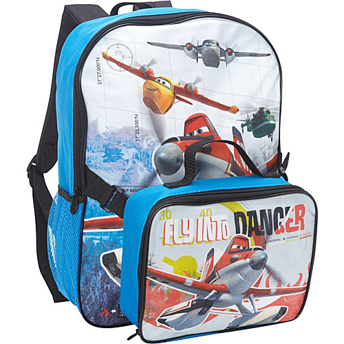 Disney Planes Backpack with Lunch Kit Blue - Disney School & Day Hiking Backpacks