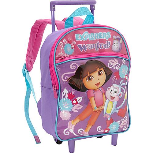 "Nickelodeon Dora the Explorer Rolling Backpack - 12"""