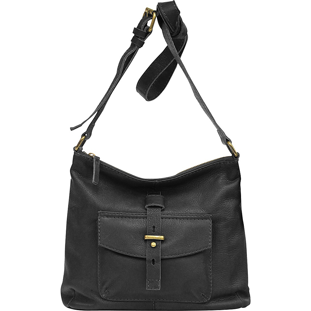 Lucky Brand Brio Leather Small Crossbody - A small leather crossbody is the next addition to your handbag collection from the creation of Lucky Brand. Adjustable shoulder strap. Top zip.