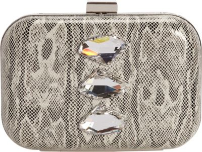 Inge Christopher Xandra Clutch Silver - Inge Christopher Evening Bags