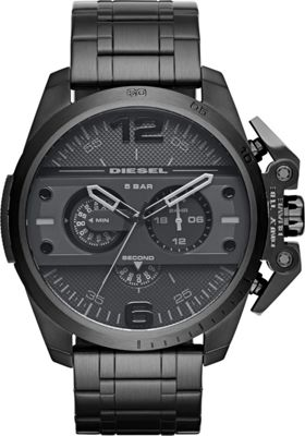 Diesel Watches Ironside Chronograph Stainless Steel Watch Black - Diesel Watches Watches