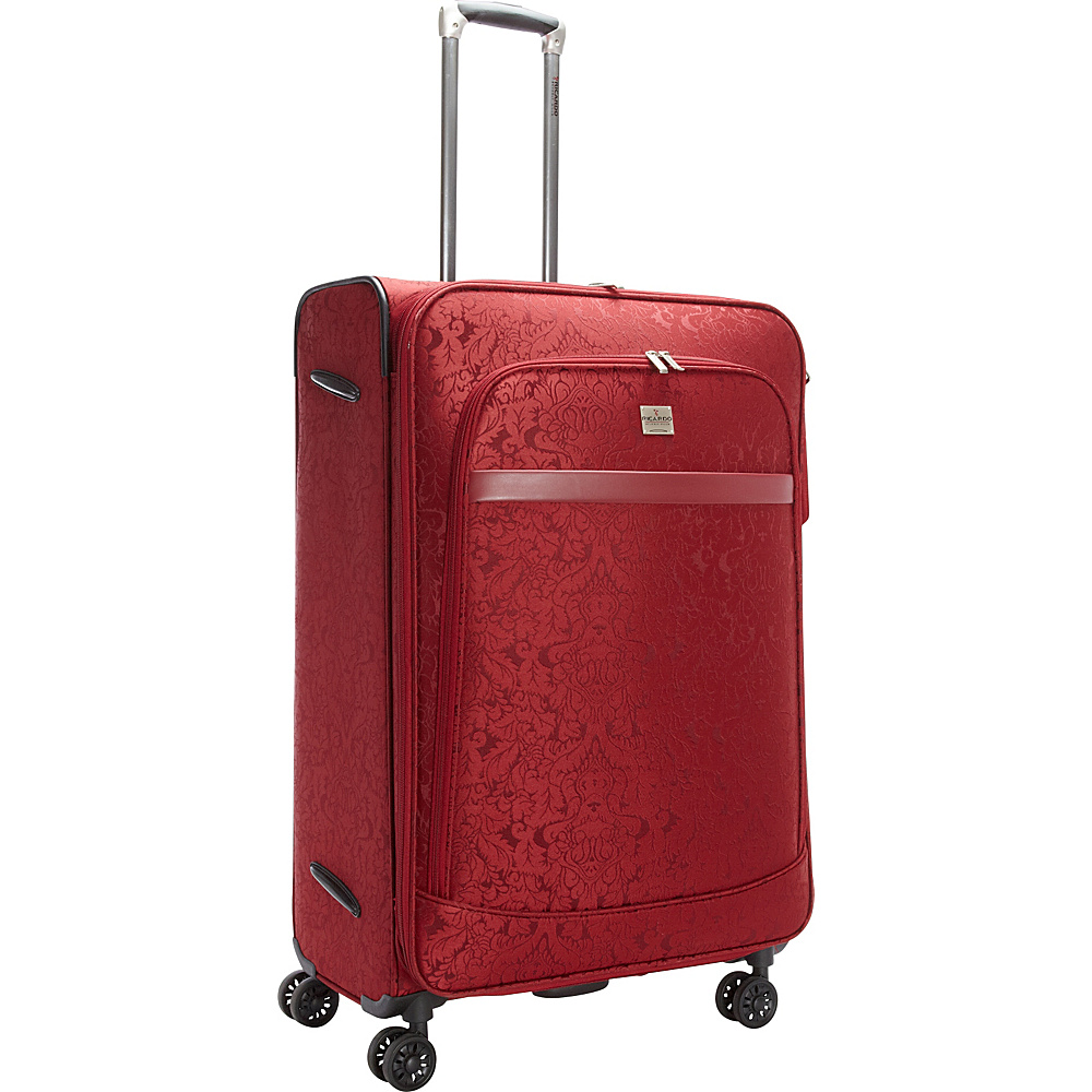Ricardo Beverly Hills Imperial 28 4 Wheel Expandable Spinner Red Ricardo Beverly Hills Softside Checked