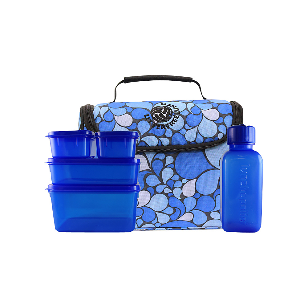 New Wave Litter Free Lunch Box Blue - New Wave Travel Coolers