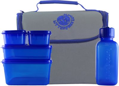 New Wave Litter Free Lunch Box Grey w/Blue Piping - New Wave Travel Coolers