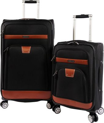 Perry Ellis Premise 2Pc Spinner Luggage Set Black - Perry Ellis Luggage Sets