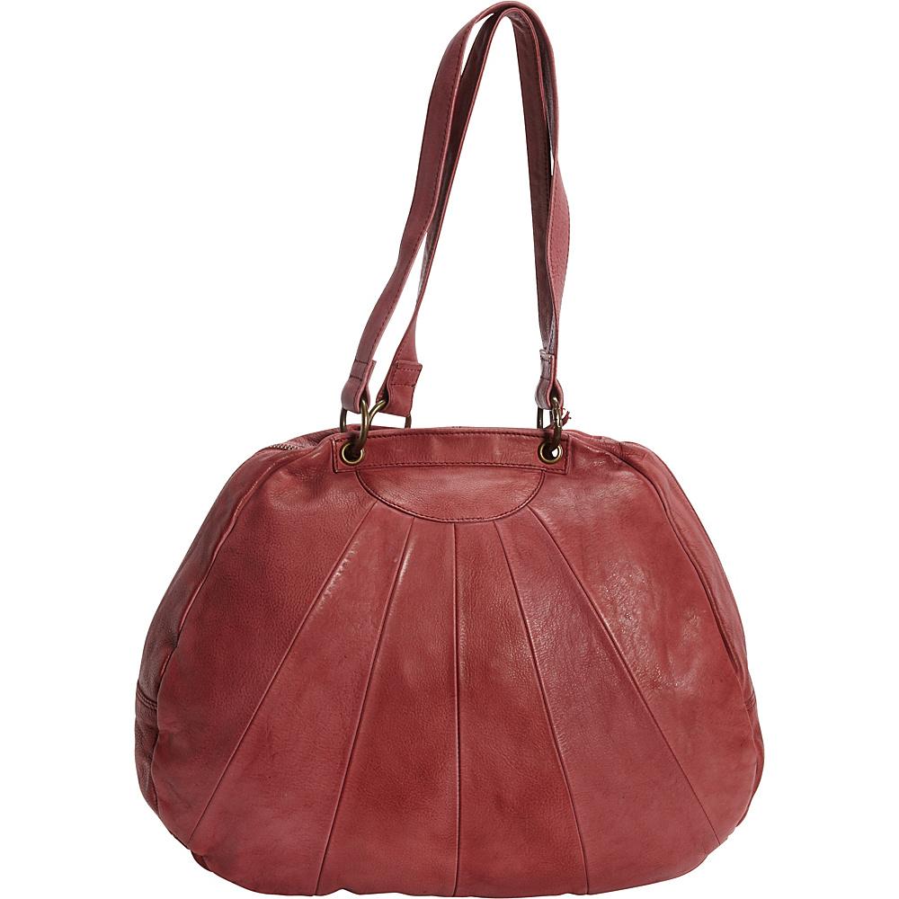 Latico Leathers Eden Shoulder Bag Crinkle Burgundy - Latico Leathers Leather Handbags - Handbags, Leather Handbags