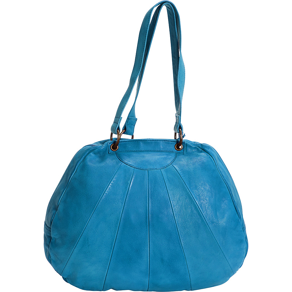 Latico Leathers Eden Shoulder Bag Crinkle Blue - Latico Leathers Leather Handbags - Handbags, Leather Handbags