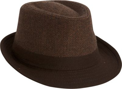 Image of Adora Hats Polyester Fedora Brown - Adora Hats Hats/Gloves/Scarves