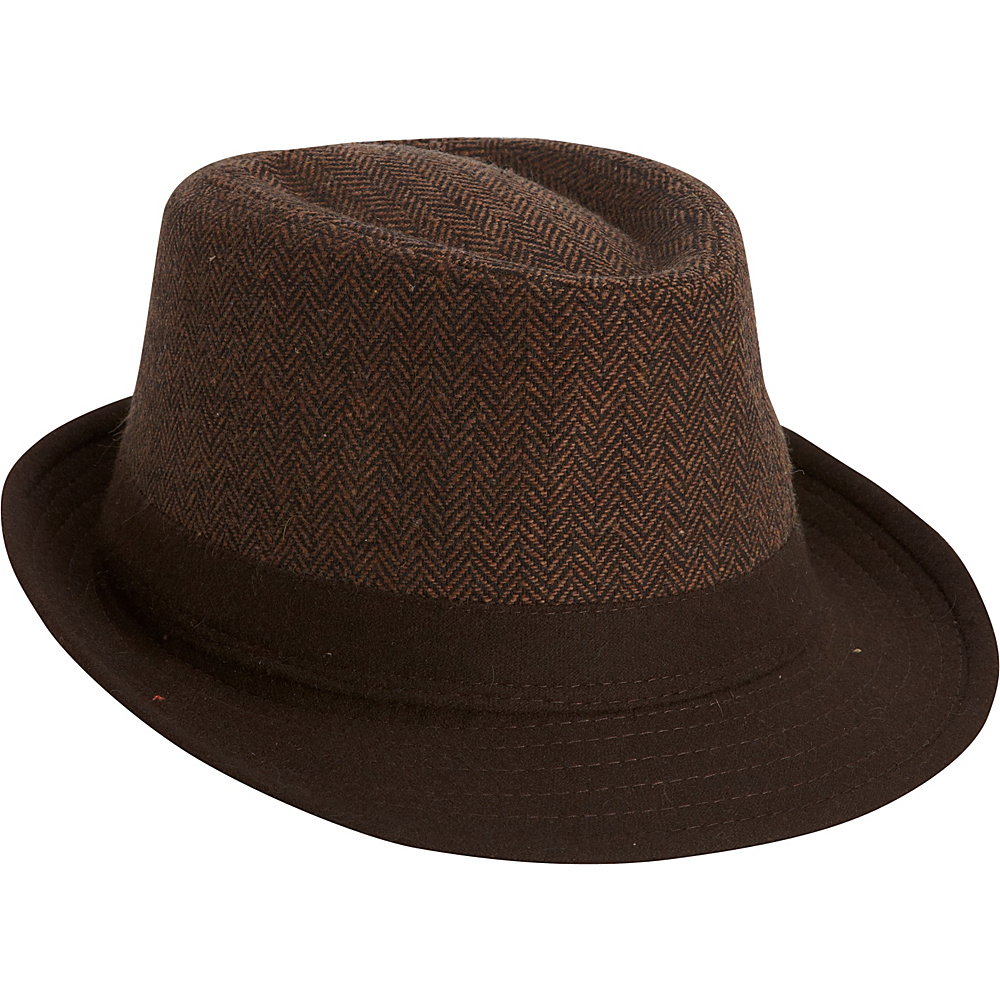 Adora Hats Polyester Fedora Brown Adora Hats Hats Gloves Scarves