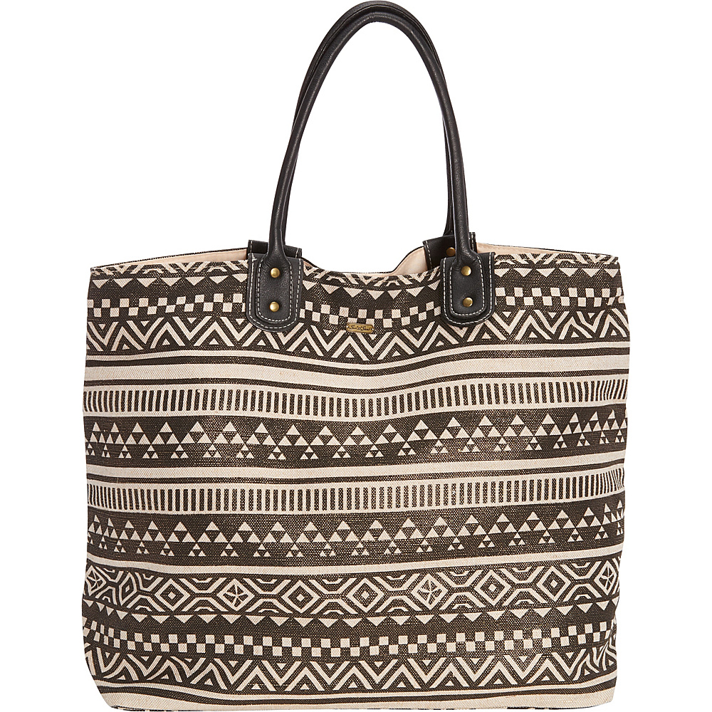 Sun N Sand Cable Bay Shoulder Tote Black - Sun N Sand Fabric Handbags - Handbags, Fabric Handbags