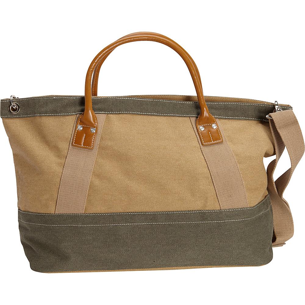Sun N Sand Wainscott Zip Top Tote Green - Sun N Sand Gym Bags - Sports, Gym Bags