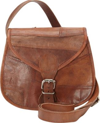 Journey Collection by Annette Ferber New Delhi Cross Body Bag Tan - Journey Collection by Annette Ferber Leather Handbags
