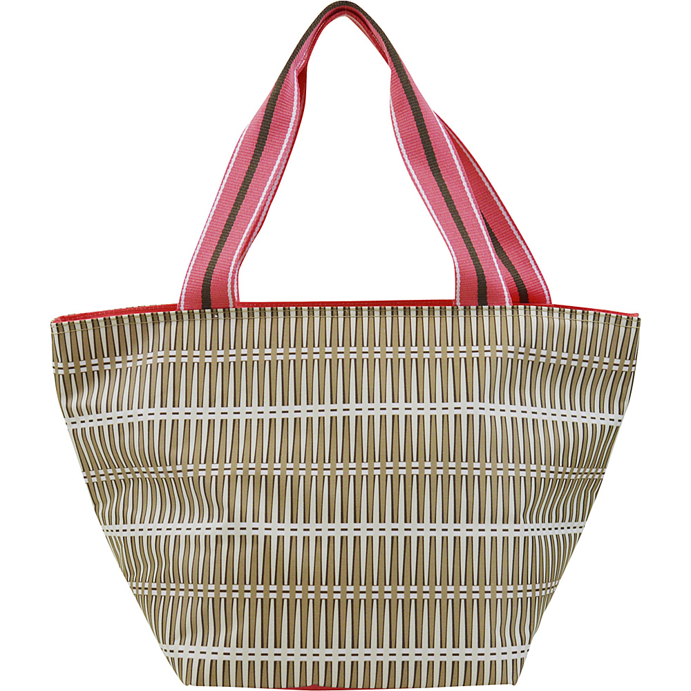 All For Color Lunch Bag Khaki Rattan All For Color Travel Coolers