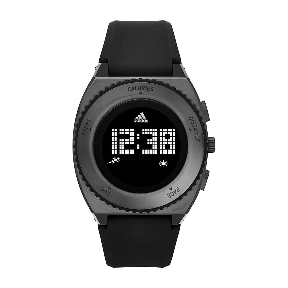 adidas watches Urban Runner Digital Silicone Watch Black with Black - adidas watches Watches