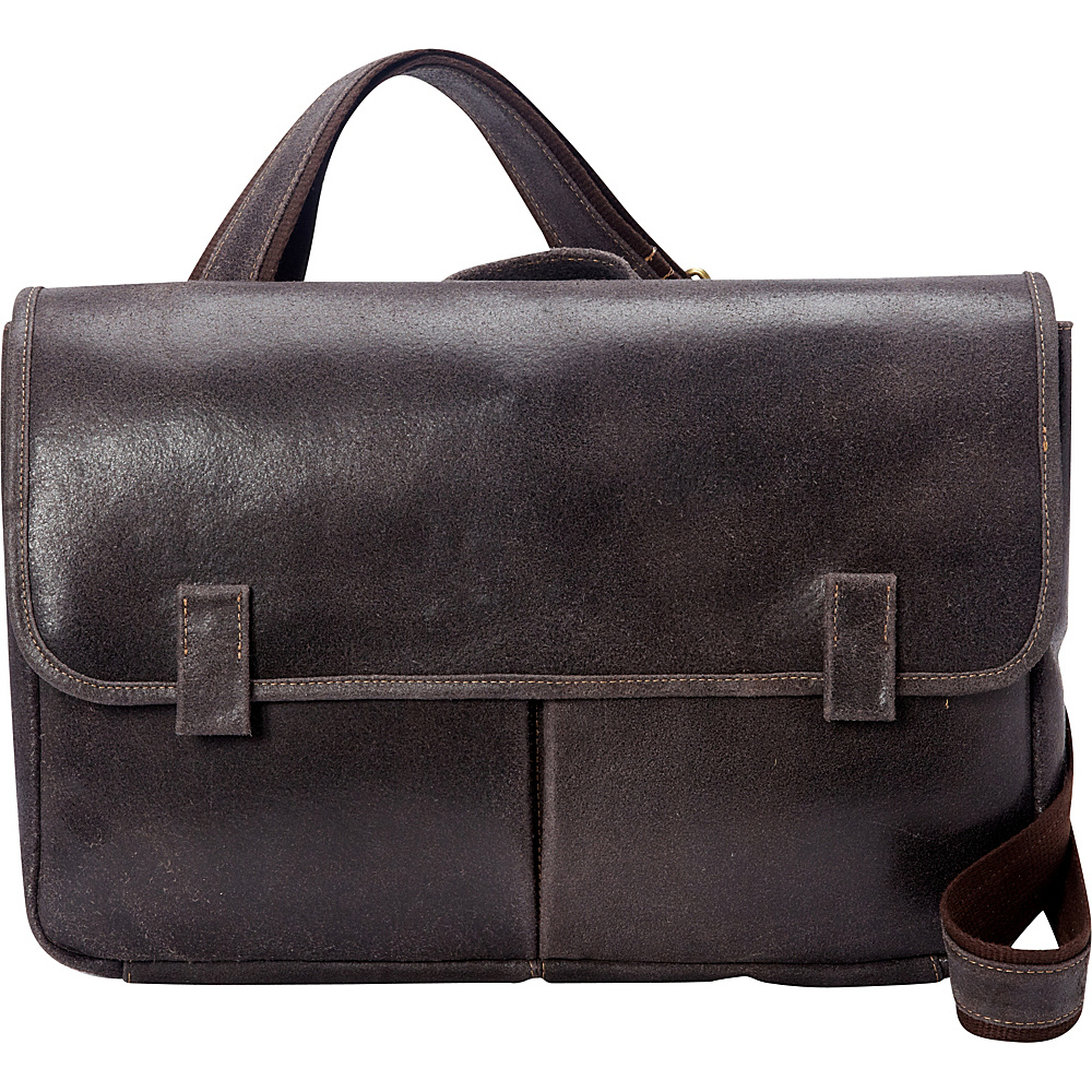 Le Donne Leather Koa Distressed Messenger Chocolate - Le Donne Leather Messenger Bags - Work Bags & Briefcases, Messenger Bags