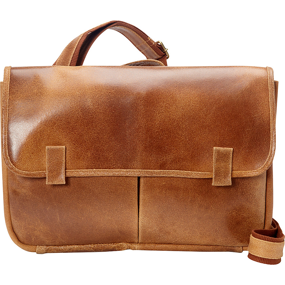 Le Donne Leather Koa Distressed Messenger Tan - Le Donne Leather Messenger Bags - Work Bags & Briefcases, Messenger Bags