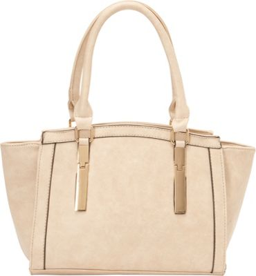 SW Global Agnes Satchel Bag Beige - SW Global Manmade Handbags