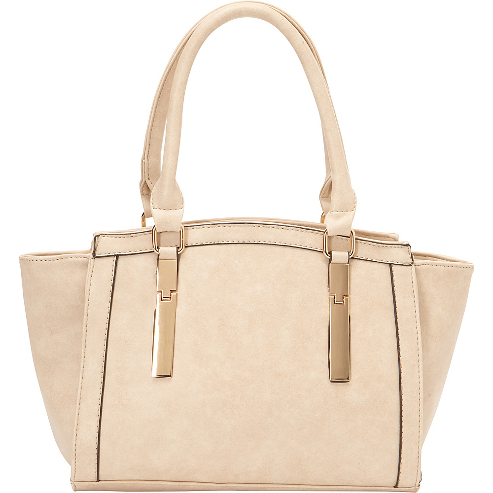 SW Global Agnes Satchel Bag Beige - SW Global Manmade Handbags - Handbags, Manmade Handbags