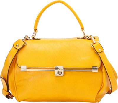 SW Global Corda Satchel Bag Tan - SW Global Manmade Handbags