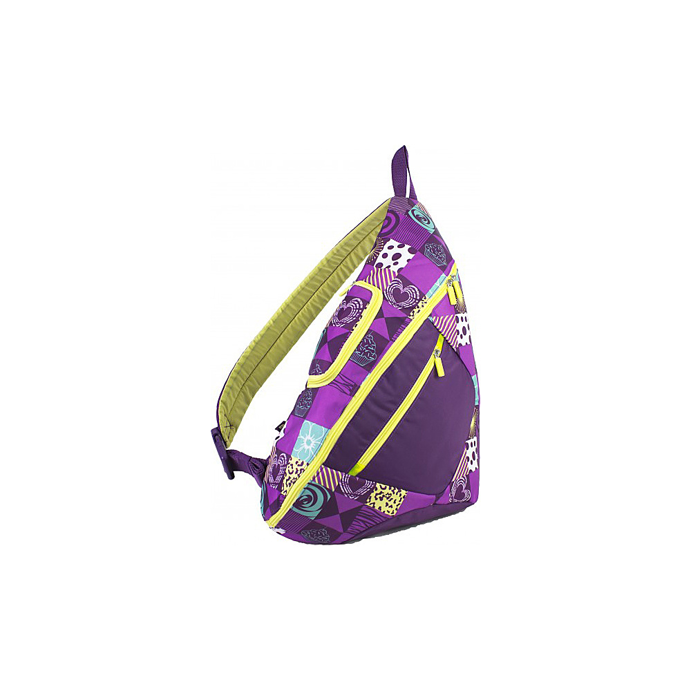 Eastsport Cross Shoulder Sling Bag Purple Patch Eastsport Slings