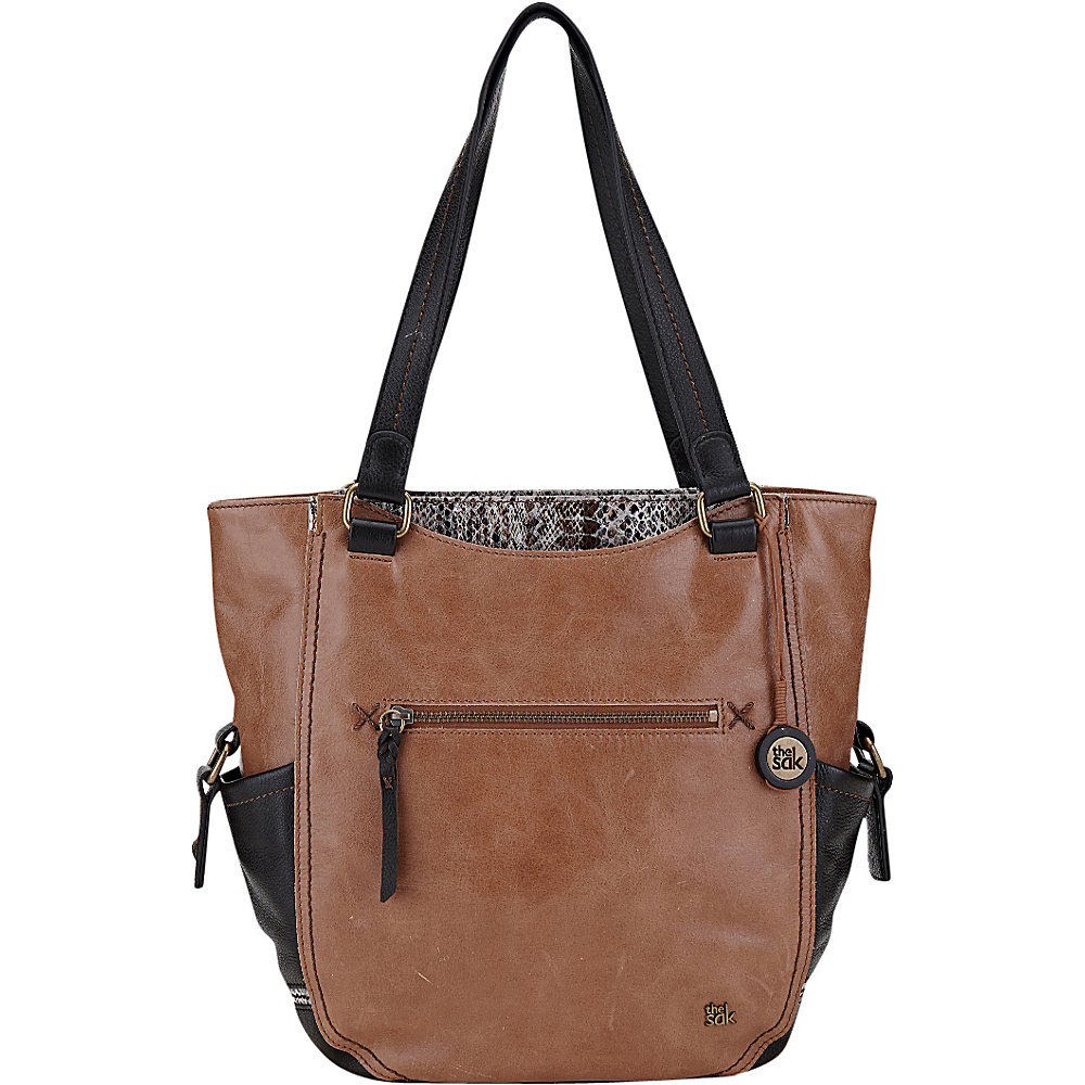 The Sak Kendra Work Tote Brown Snake Multi The Sak Leather Handbags