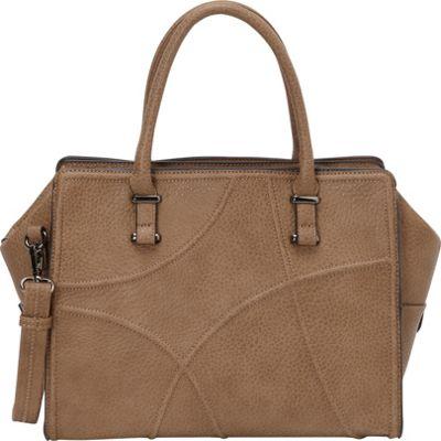 Sondra Roberts Demanding Detail Satchel Taupe - Sondra Roberts Manmade Handbags