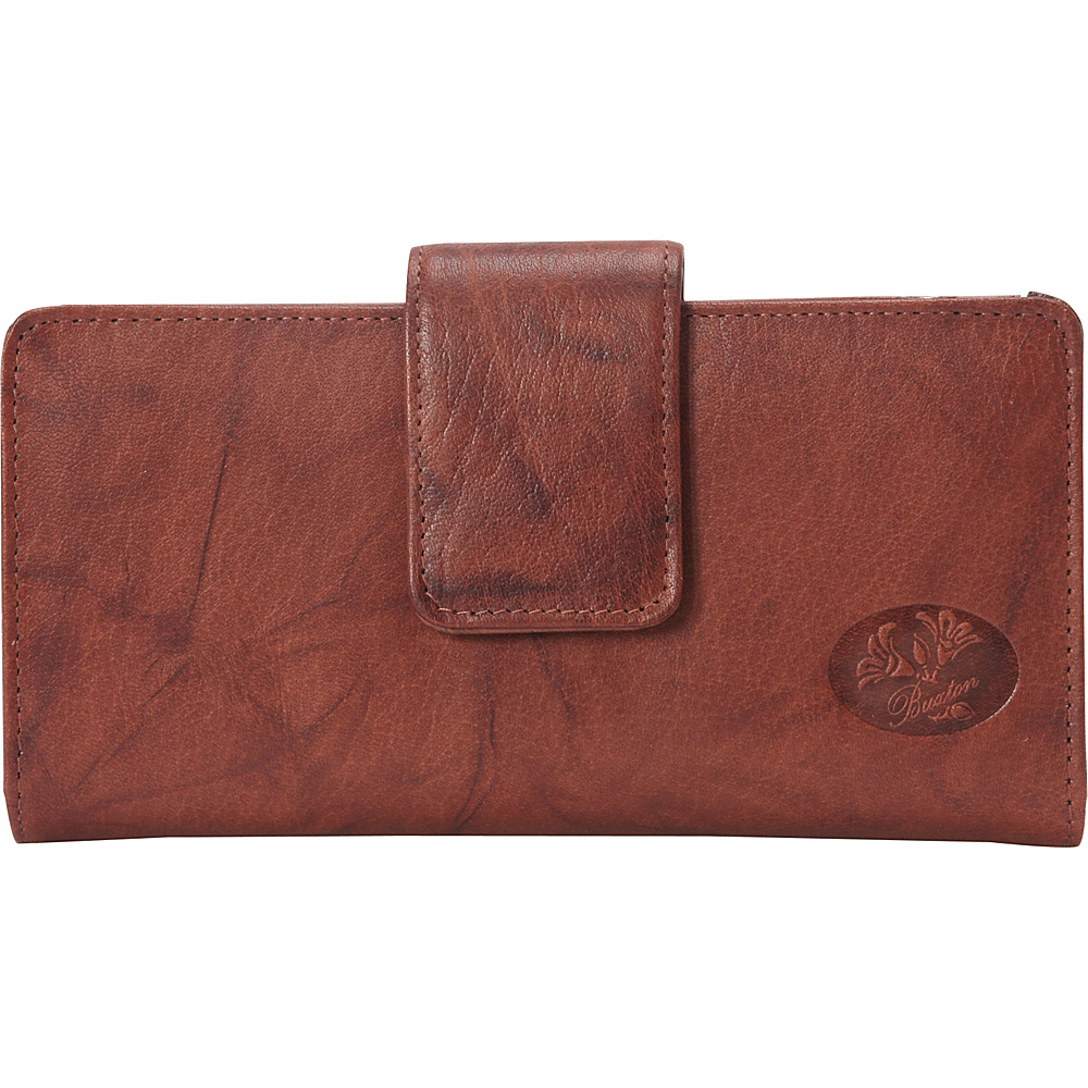Buxton Heiress Metropolitan Wallet Mahogany - Buxton Womens Wallets - Women's SLG, Women's Wallets