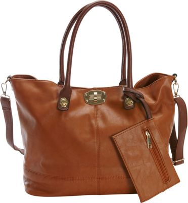 Diophy 3-in-1 Tote Brown - Diophy Manmade Handbags