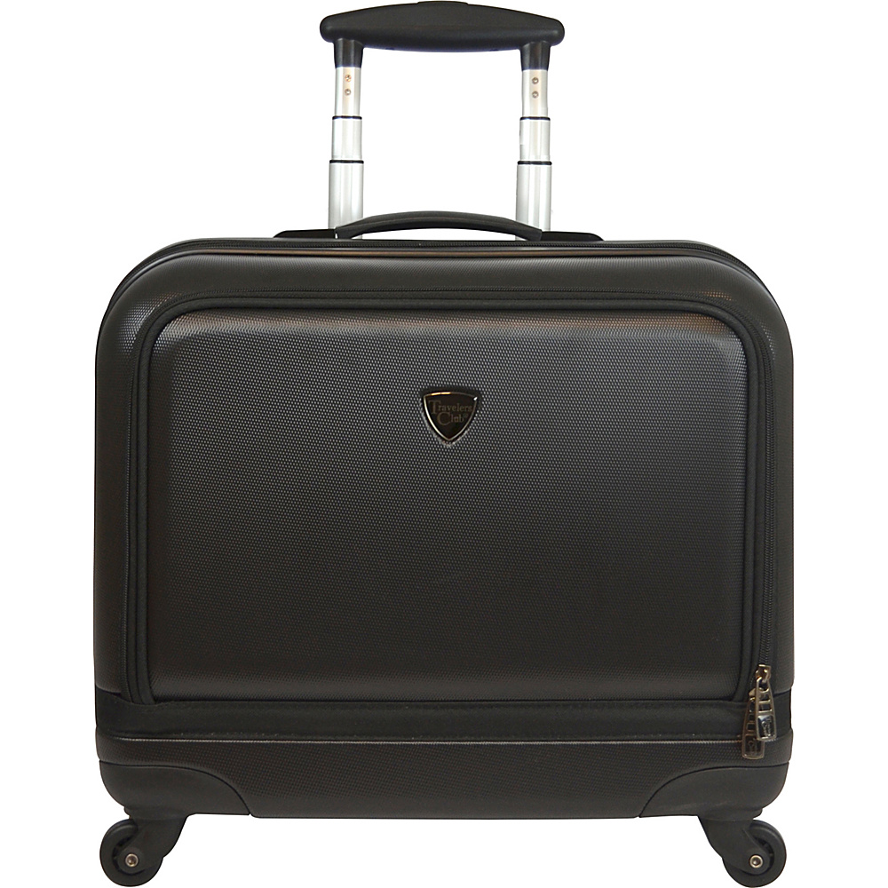 "Travelers Club Luggage Stanford 18"" Rolling Laptop Briefcase Black - Travelers Club Luggage Hardside Carry-On"