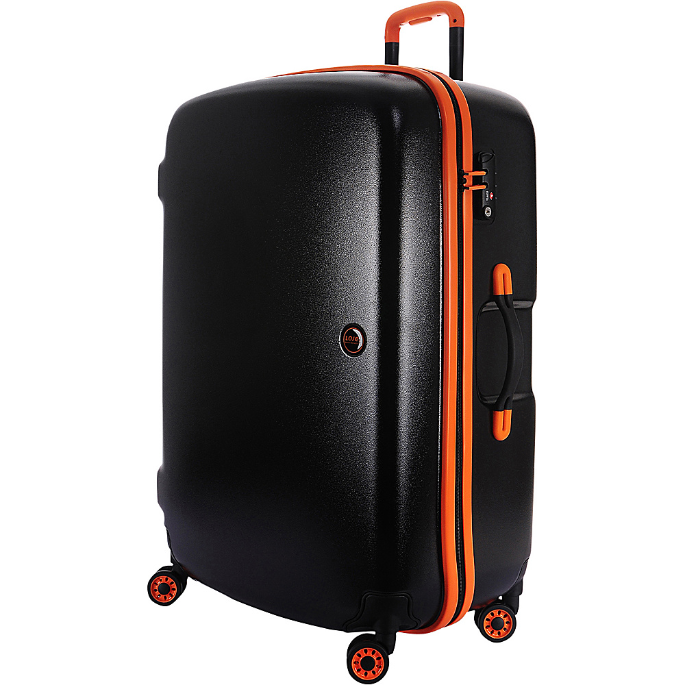 Lojel Nimbus IPX 3 Waterproof Luggage Large Black Orange Lojel Hardside Checked