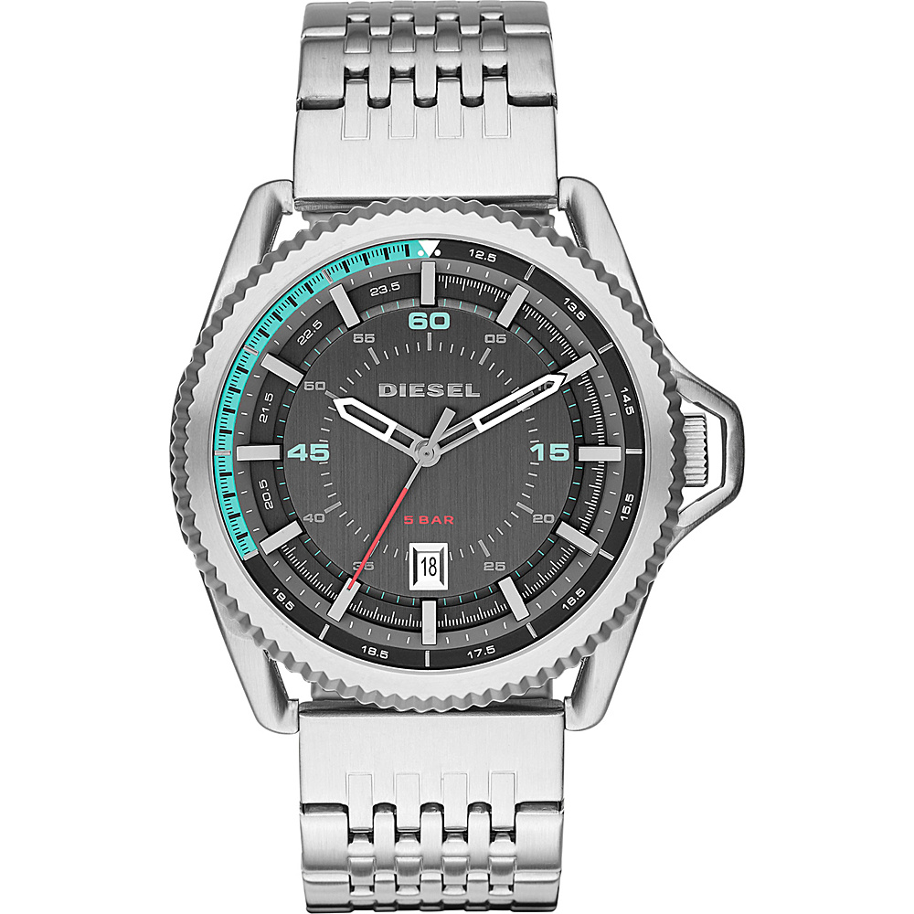 Diesel Watches Rollcage Watch Silver - Diesel Watches Watches