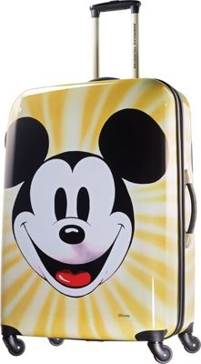 American Tourister Disney Mickey Mouse Hardside Spinner 28 inch Mickey Mouse Face - American Tourister Hardside Checked