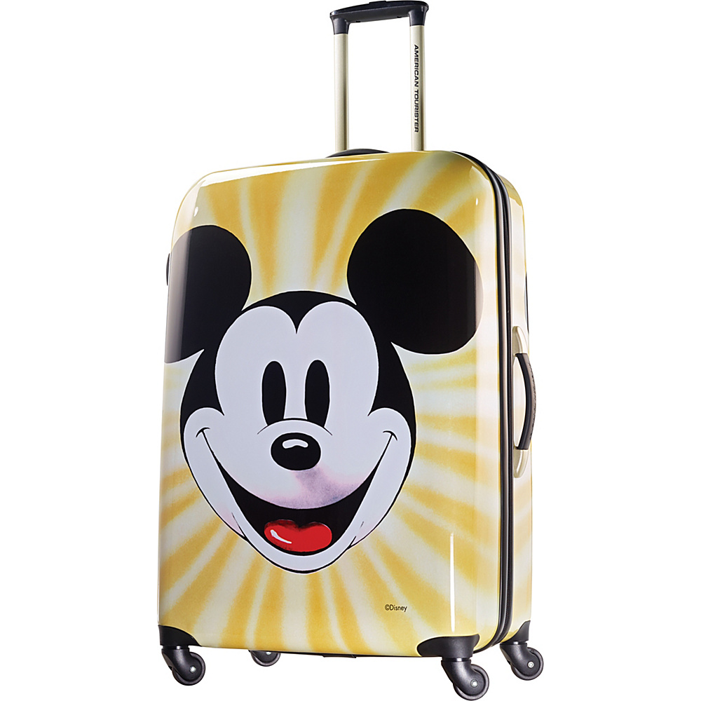 American Tourister Disney Mickey Mouse Hardside Spinner 28 Mickey Mouse Face American Tourister Hardside Checked