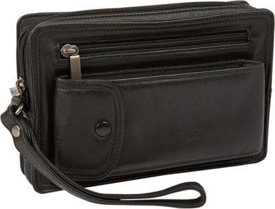 Tanners Avenue Black Napa Leather Travel Bag Black - Tanners Avenue Women's Wallets