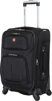 SwissGear Travel Gear 21 inch Spinner Carry-On Luggage Black - SwissGear Travel Gear Softside Carry-On